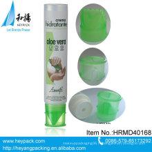 Conteneur à crème pour le corps en tube de plastique de style nouveau