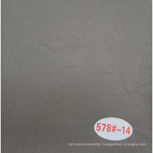 Grey Color Crack Decorative Leather Oil Waxy Leather for Sofa