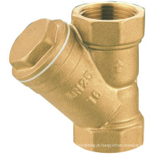 J606 Válvula de latão forjado, Fliter de água, coador de encanamento para tubo, hidráulico