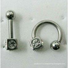 Нержавеющая сталь ухо пирсинг шпильки, мужчины уха шпилька