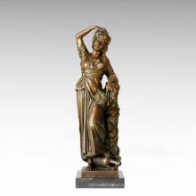 Классическая фигура Статуя Осенняя Фойсон Бронзовая скульптура TPE-182