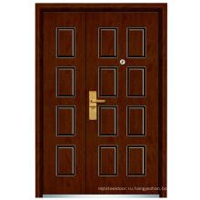 Мать и сын стальная деревянная дверь (компания fxgm-C305B)