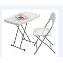 China Hersteller einstellbare Höhe Mini billig Kunststoff Falten Tisch für Kinder Study / Schreiben / Essen / Computer