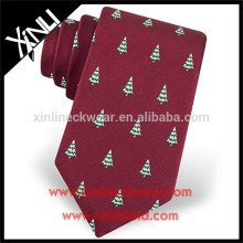 100% Handmade Perfect Knot Silk Woven Custom Christmas Necktie