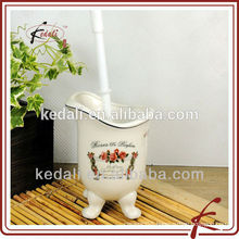 Wholesale Ceramic Porcelain Toilet Brush Holder With Toilet Brush