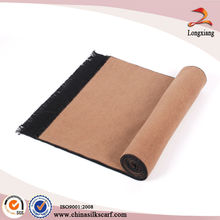 Moda de doble capa de seda Pashmina bufanda estilo clásico