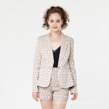 Jacquard Damen Blazer Anzug