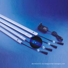 Barra de luz de tira de aluminio tocable LED