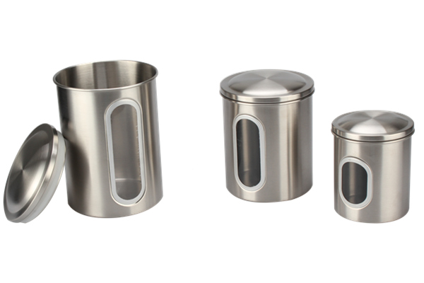 Stainless Steel Lid Canister