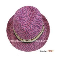 2012 Frauen Stroh Fedora Hut mit hoher Qualität für Party Hut