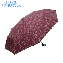 Latest Promotional Best Quality Hot Selling Strong Custom Printing Red Mini Umbrella Wind Resistant with Case Manufacturers USA