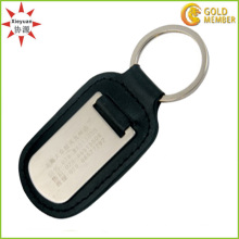 Blank Customized Logo Diamond Shaped Keychain Leather