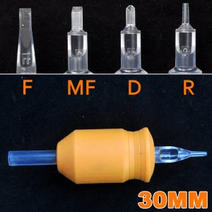 Disposable tattoo needle tubes & grips