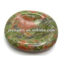 Unakite Worry stone thumb