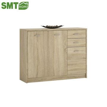 Customized Dining Room Kitchen Cupboard 3 Door 2 Drawer Wide Cupboard in Sonama Oak