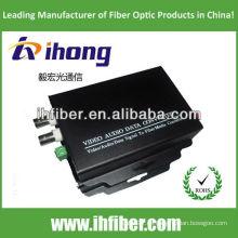 2 Canales de fibra óptica Video Converter singlemode 20/40/60 kilometros de alta calidad final