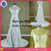 Новая мода кружева аппликация вечерние платья платья невесты 2015 последние леди мода полный sequince сторона ruched платья партии