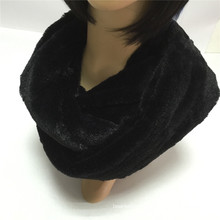Black Fashion Young Neck PV Fleece Tube Scarf Factory