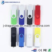2014 Novo design giratório OTG USB Flash Drive