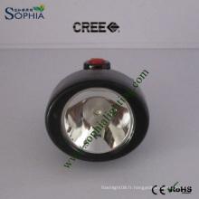 Nouvelle lampe rechargeable de chapeau de lampe principale d'IP68 LED