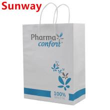 2019 new white durable kraft paper bags