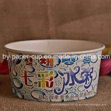 Tazón de fuente desechable del papel del helado