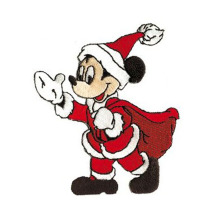 Remendo bordado de Natal Santa Mickey Mouse