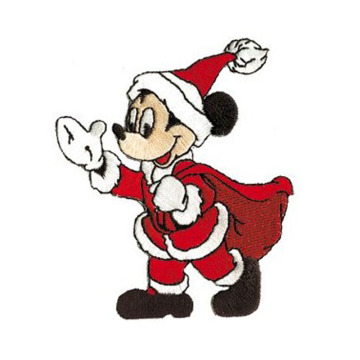 Christmas Santa Mickey Mouse Embroidered Patch
