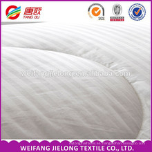 Tela de algodón con rayas de raso de algodón Tela de raso de algodón con rayas de satén 100% para cama de hotel de hotel Tela de algodón blanca 100%