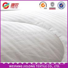 tecido de cetim lenço de algodão 100% algodão branqueada tecido de cetim da listra para o hotel estrela folha de cama 100% algodão branco tarja