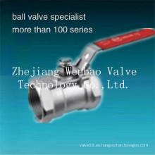 Válvula de bola 304 de acero inoxidable con puerto reducido de 1 pieza Válvula de bola 1000wog (PSI)