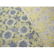 Cotton Circle Colored Polyester Lace Fabric Burnout Allover
