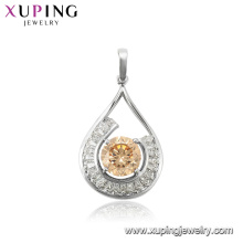 30102 elegant women jewelry gemstone 925 sterling silver cage pendant