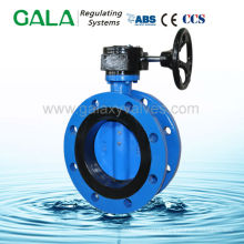 Famous brand Double Flanged Butterfly Valve with handwheel