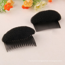 Black Hair Donut Pad with Comb (HEAD-27)