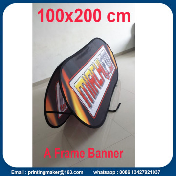Custom Printed Horizontal Pop Up Bingkai Banner