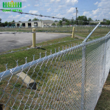 Galvanized wire mesh diamond shape chain link fence