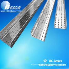 HDG Outdoor Perforated Type Cable Tray Used In Thermal Power Station With International Standard