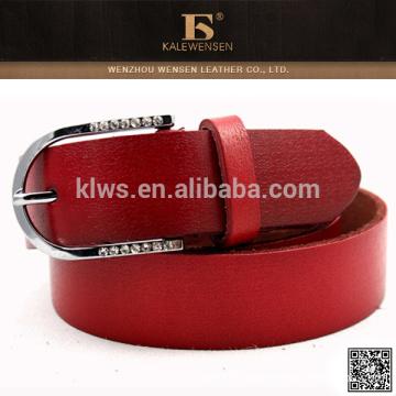 2015 Latest direct design elegant red leather women belts