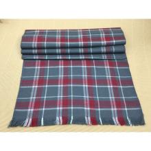 Haute qualité hiver mode 100% laine écharpe rouge à carreaux
