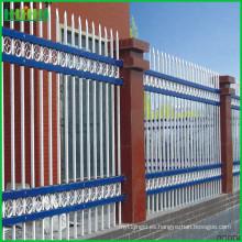 Fácil instalar villas de precio más bajo cerco de acero de zinc con bajo precio