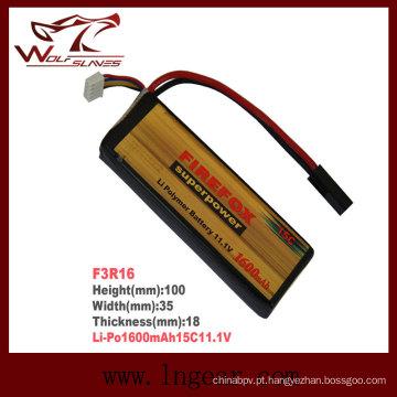 Bateria de Li-polímero de Li-Po Firefox 1600mAh 11.1V15c para venda