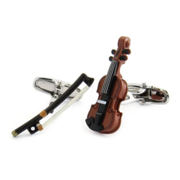 Quality Colour Violin and Bow Unique Cufflinks