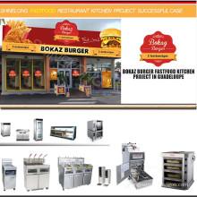 Equipo de comida rápida utilizada para restaurante