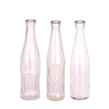 High quality empty clear 500ml glass bottles for beer wine juice beverage with crown cap