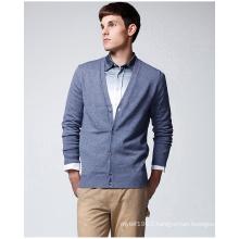 V Neck Fashion Garment Pure Colour Sweater Cardigan