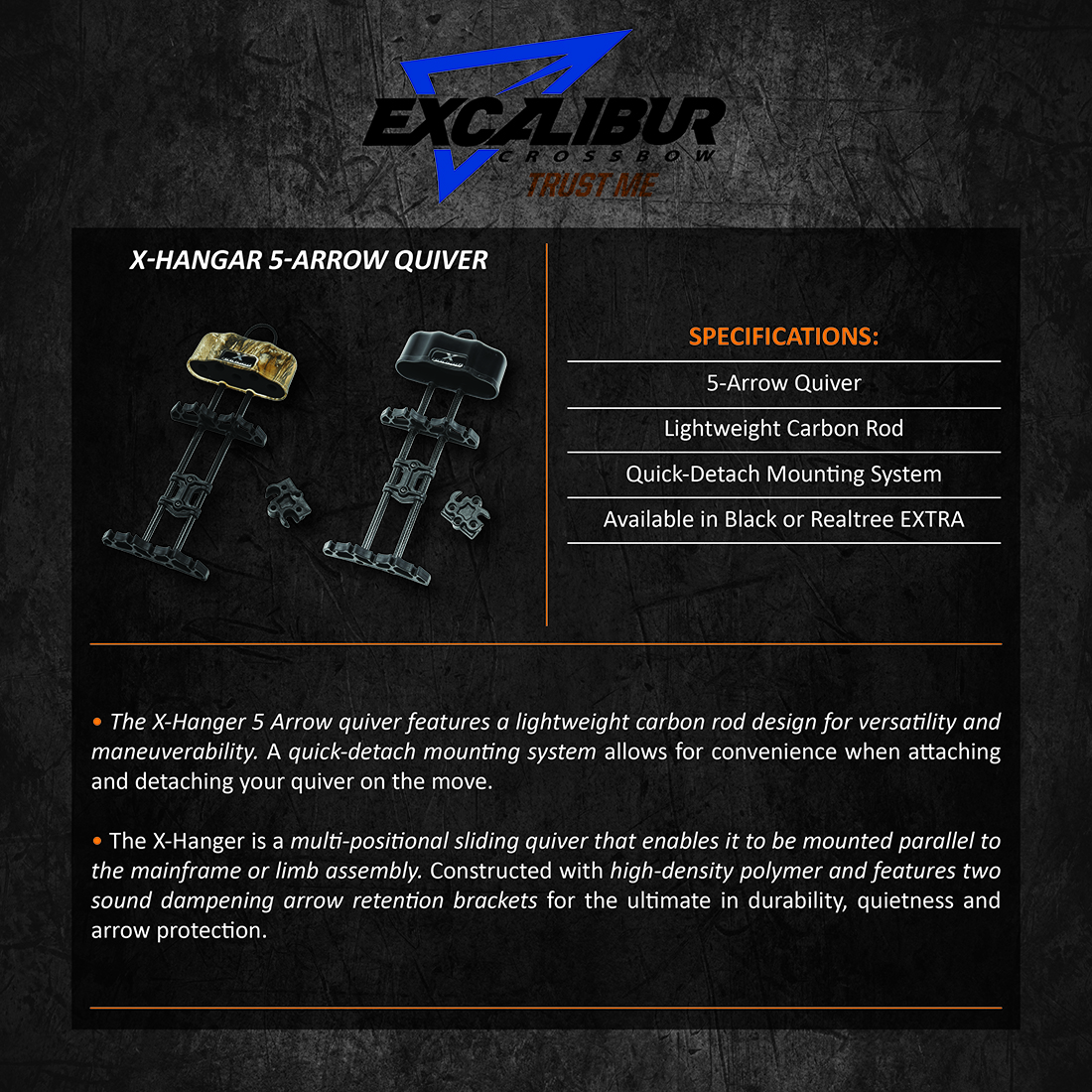 Excalibur_XHangar_5Arrow_Quiver_Product_Description