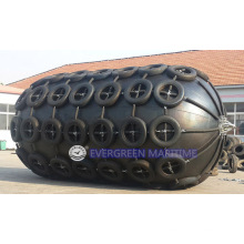 Marine Rubber Pneumatic Rubber Boat Ship Fenders with Chain and Tire Net CTN Type