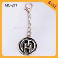 MC211 Custom Gold Metall Hang Label Handtasche Logo Metall Tagswith Kettenhaken