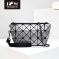 Geometric brushed women's bag fashion diamond shoulder handbag folding chainbag temperament bag